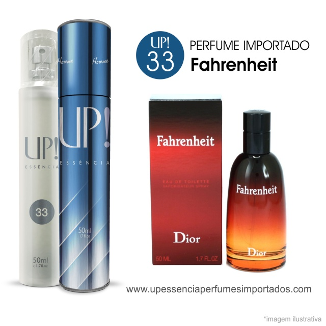 Fahrenheit Perfume Importado Masculino Up Essencia 33