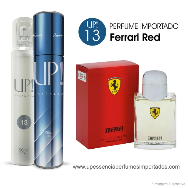 Ferrari Red Perfume Importado Masculino Up Essencia 13
