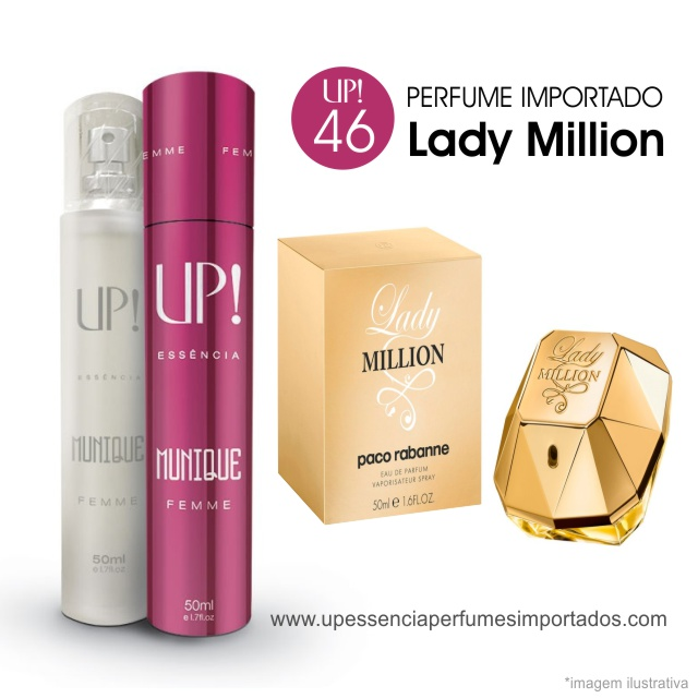 Lady Million Perfume Importado Feminino Up Essencia 46 Munique